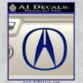 Acura Emblem Logo Decal Sticker Blue Vinyl 120x120