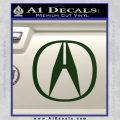 Acura Emblem Logo Decal Sticker Dark Green Vinyl 120x120