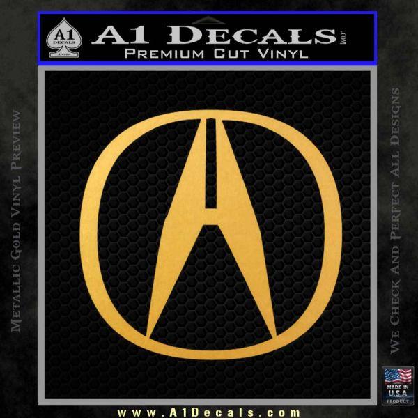 Acura Emblem Logo Decal Sticker A Decals - Acura emblem