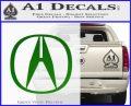 Acura Emblem Logo Decal Sticker Green Vinyl Logo 120x97