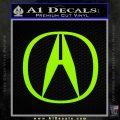 Acura Emblem Logo Decal Sticker Lime Green Vinyl 120x120