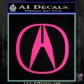 Acura Emblem Logo Decal Sticker Pink Hot Vinyl 120x120