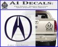 Acura Emblem Logo Decal Sticker PurpleEmblem Logo 120x97