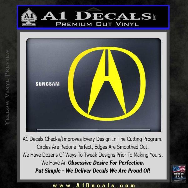 Acura Red Emblem: Acura Emblem Logo Decal Sticker » A1 Decals