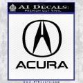Acura Full Decal Sticker Black Vinyl 120x120