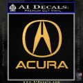 Acura Full Decal Sticker Gold Vinyl 120x120