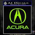 Acura Full Decal Sticker Lime Green Vinyl 120x120