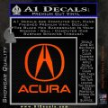Acura Full Decal Sticker Orange Emblem 120x120