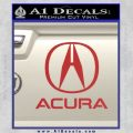 Acura Full Decal Sticker Red 120x120