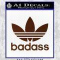 Adidas Badass D1 Decal Sticker BROWN Vinyl 120x120