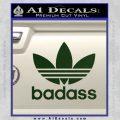 Adidas Badass D1 Decal Sticker Dark Green Vinyl 120x120