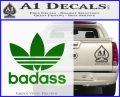 Adidas Badass D1 Decal Sticker Green Vinyl Logo 120x97
