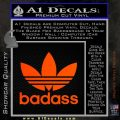 Adidas Badass D1 Decal Sticker Orange Emblem 120x120