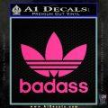 Adidas Badass D1 Decal Sticker Pink Hot Vinyl 120x120