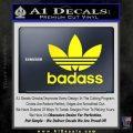Adidas Badass D1 Decal Sticker Yellow Laptop 120x120