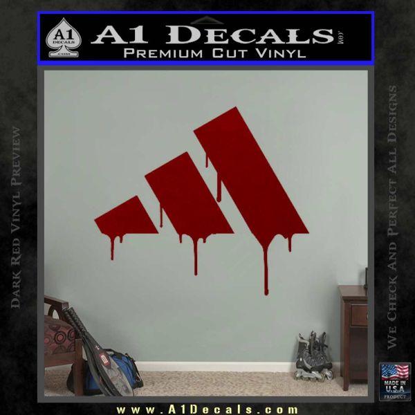 Adidas Drip Bloody Decal Sticker DRD Vinyl