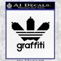 Adidas Graffiti D1 Decal Sticker Black Vinyl 120x120