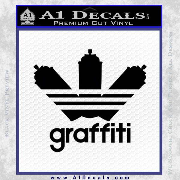 Adidas Graffiti D1 Decal Sticker Black Vinyl