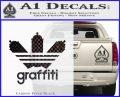 Adidas Graffiti D1 Decal Sticker Carbon FIber Black Vinyl 120x97