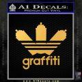 Adidas Graffiti D1 Decal Sticker Gold Vinyl 120x120