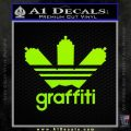 Adidas Graffiti D1 Decal Sticker Lime Green Vinyl 120x120