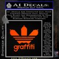 Adidas Graffiti D1 Decal Sticker Orange Emblem 120x120