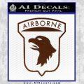 Airborne Aireborne Military Decal Sticker BROWN Vinyl 120x120