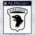 Airborne Aireborne Military Decal Sticker Black Vinyl 120x120