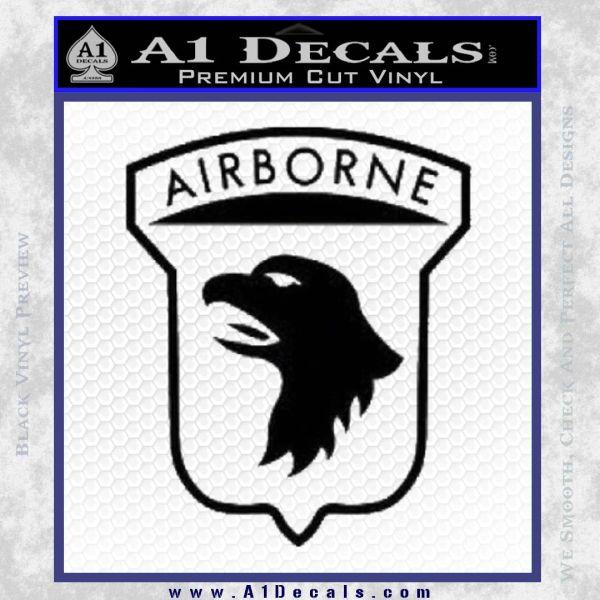 Airborne Aireborne Military Decal Sticker Black Vinyl
