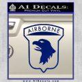 Airborne Aireborne Military Decal Sticker Blue Vinyl 120x120