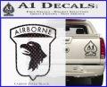 Airborne Aireborne Military Decal Sticker Carbon FIber Black Vinyl 120x97