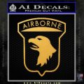 Airborne Aireborne Military Decal Sticker Gold Vinyl 120x120