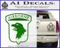 Airborne Aireborne Military Decal Sticker Green Vinyl Logo 120x97