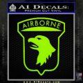 Airborne Aireborne Military Decal Sticker Lime Green Vinyl 120x120