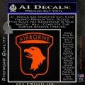 Airborne Aireborne Military Decal Sticker Orange Emblem 120x120