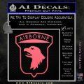 Airborne Aireborne Military Decal Sticker Pink Emblem 120x120