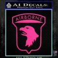 Airborne Aireborne Military Decal Sticker Pink Hot Vinyl 120x120