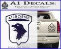 Airborne Aireborne Military Decal Sticker PurpleEmblem Logo 120x97