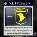 Airborne Aireborne Military Decal Sticker Yellow Laptop 120x120