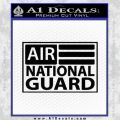 Airnationalguard Decal Sticker Black Vinyl 120x120