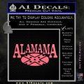 Alabama Flag Decal Sticker Rebel Oval 10 120x120
