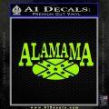 Alabama Flag Decal Sticker Rebel Oval 13 120x120