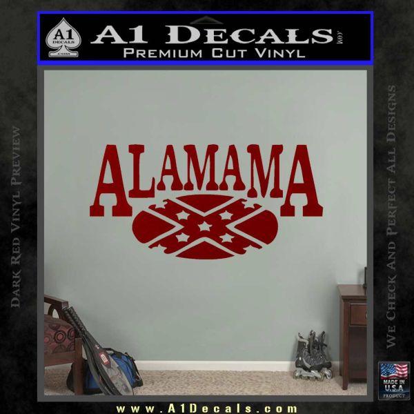 Alabama Flag Decal Sticker Rebel Oval 16