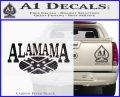 Alabama Flag Decal Sticker Rebel Oval 18 120x97
