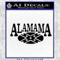 Alabama Flag Decal Sticker Rebel Oval 21 120x120