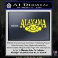 Alabama Flag Decal Sticker Rebel Oval 3 120x120