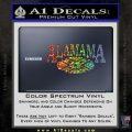 Alabama Flag Decal Sticker Rebel Oval 4 120x120