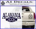Alabama Flag Decal Sticker Rebel Oval 8 120x97