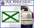 Alabama State Flag Decal Sticker Official 17 120x97