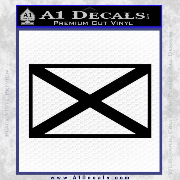 Alabama State Flag Decal Sticker Official 2